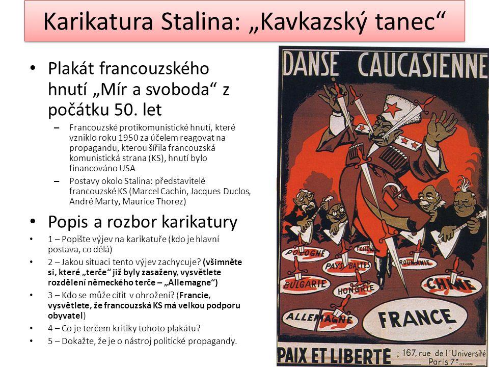 """Karikatura Stalina: """"Kavkazský tanec"""