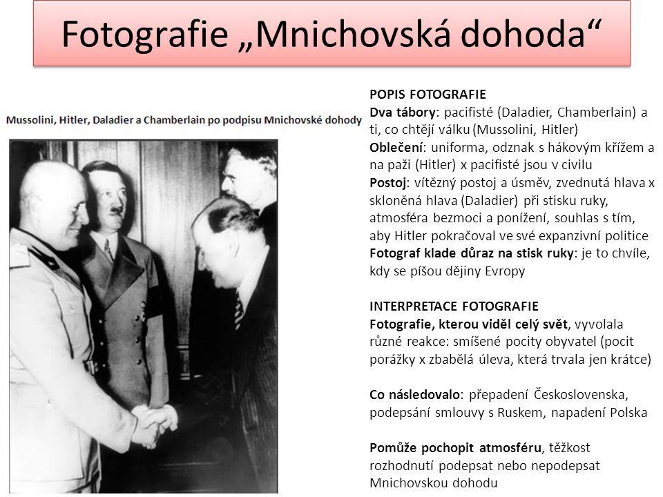 """Fotografie """"Mnichovská dohoda"""