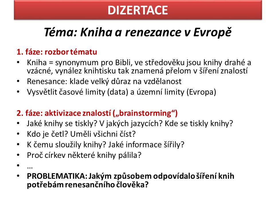 Téma: Kniha a renezance v Evropě