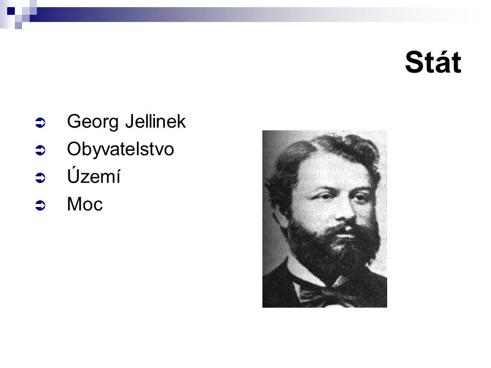 Stát Georg Jellinek Obyvatelstvo Území Moc