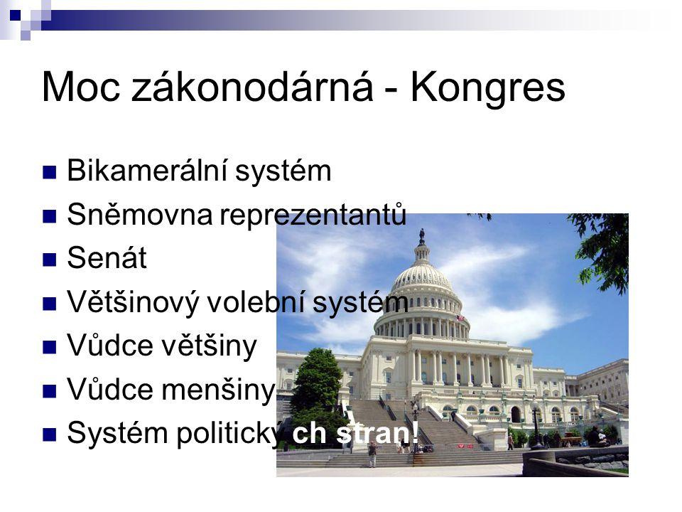 Moc zákonodárná - Kongres
