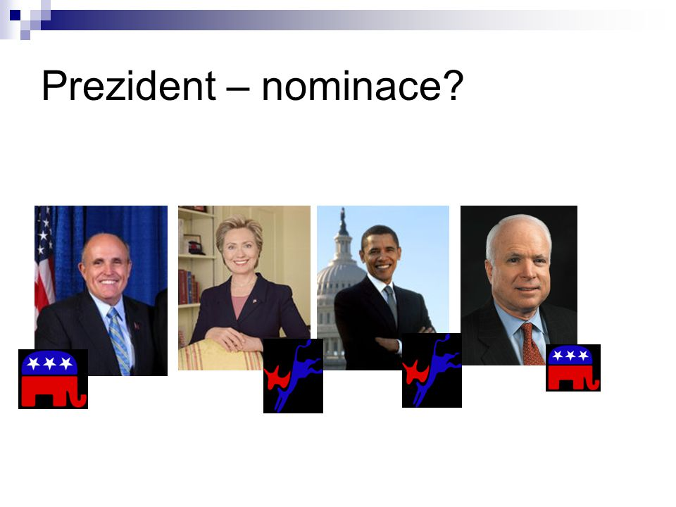 Prezident – nominace