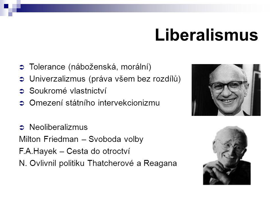 Liberalismus Tolerance (náboženská, morální)