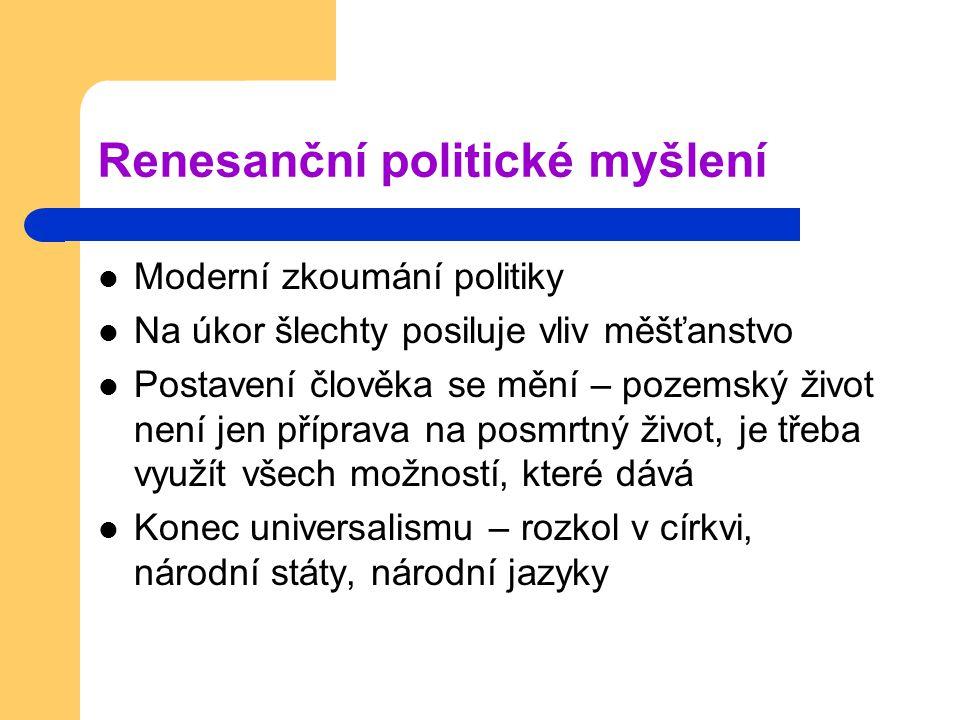 Renesanční politické myšlení