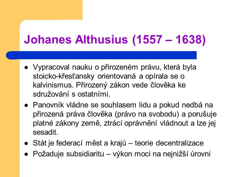 Johanes Althusius (1557 – 1638)