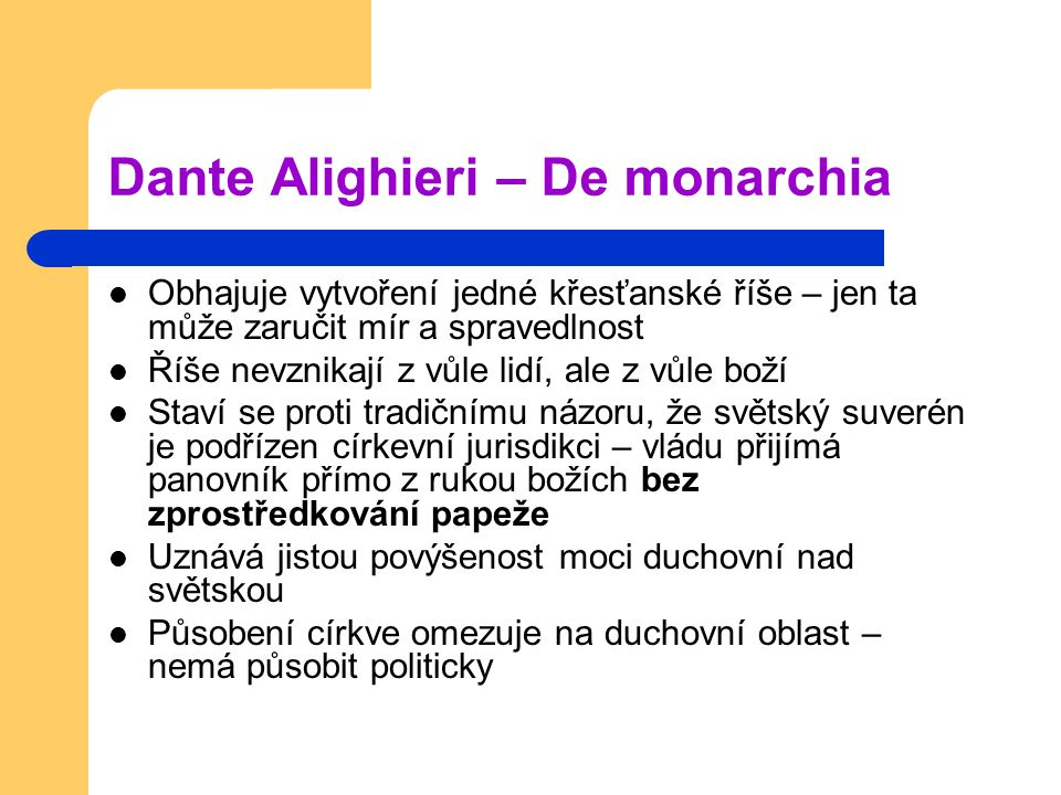 Dante Alighieri – De monarchia