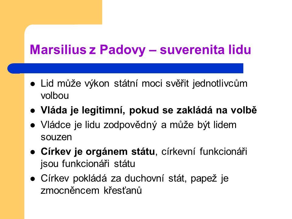 Marsilius z Padovy – suverenita lidu