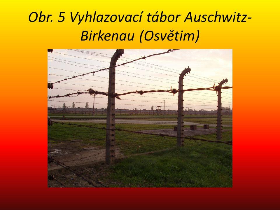 Obr. 5 Vyhlazovací tábor Auschwitz-Birkenau (Osvětim)