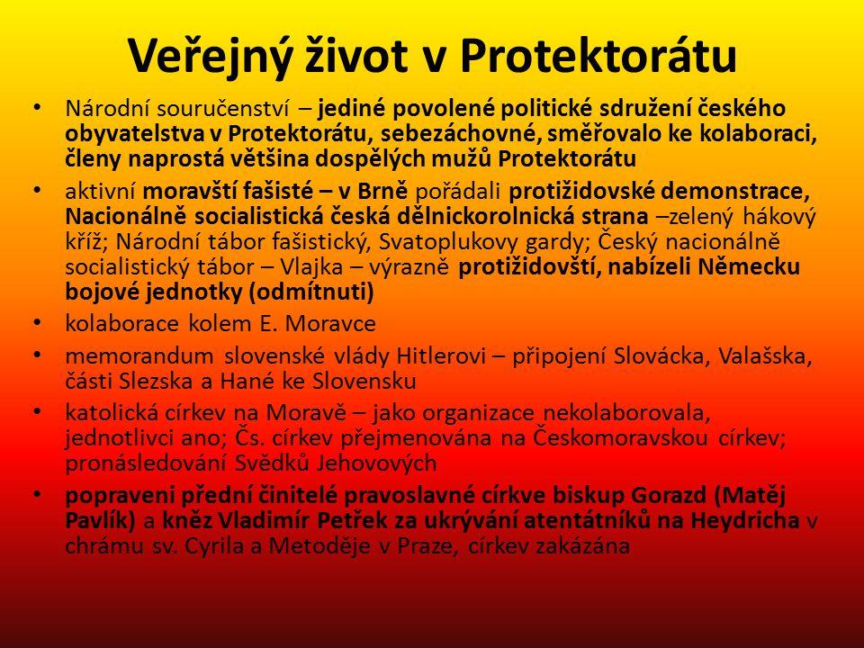 Veřejný život v Protektorátu