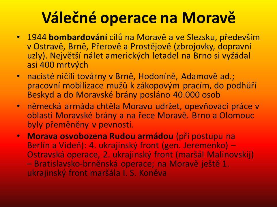 Válečné operace na Moravě