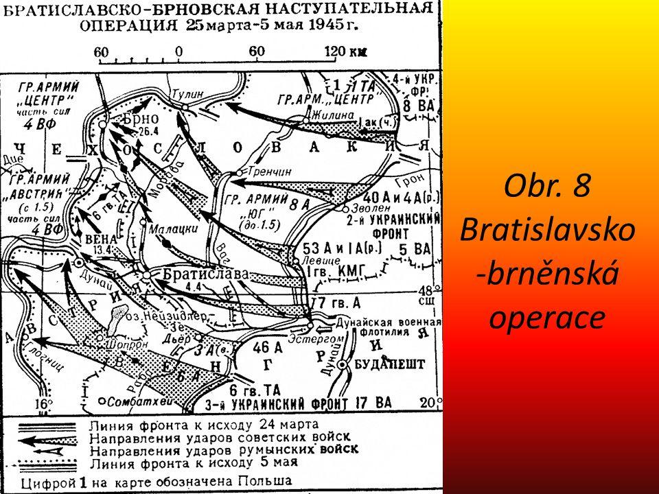 Obr. 8 Bratislavsko-brněnská operace