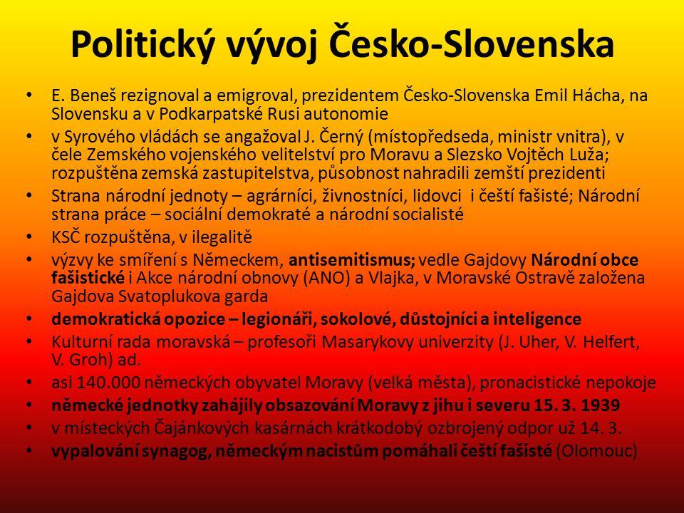 Politický vývoj Česko-Slovenska