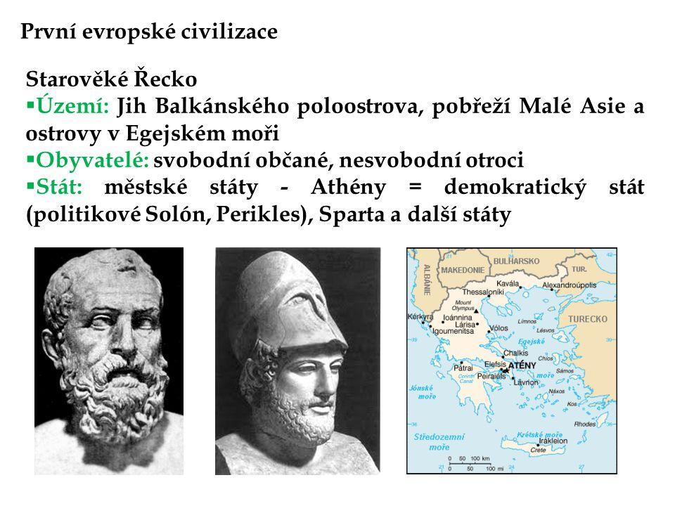 První evropské civilizace