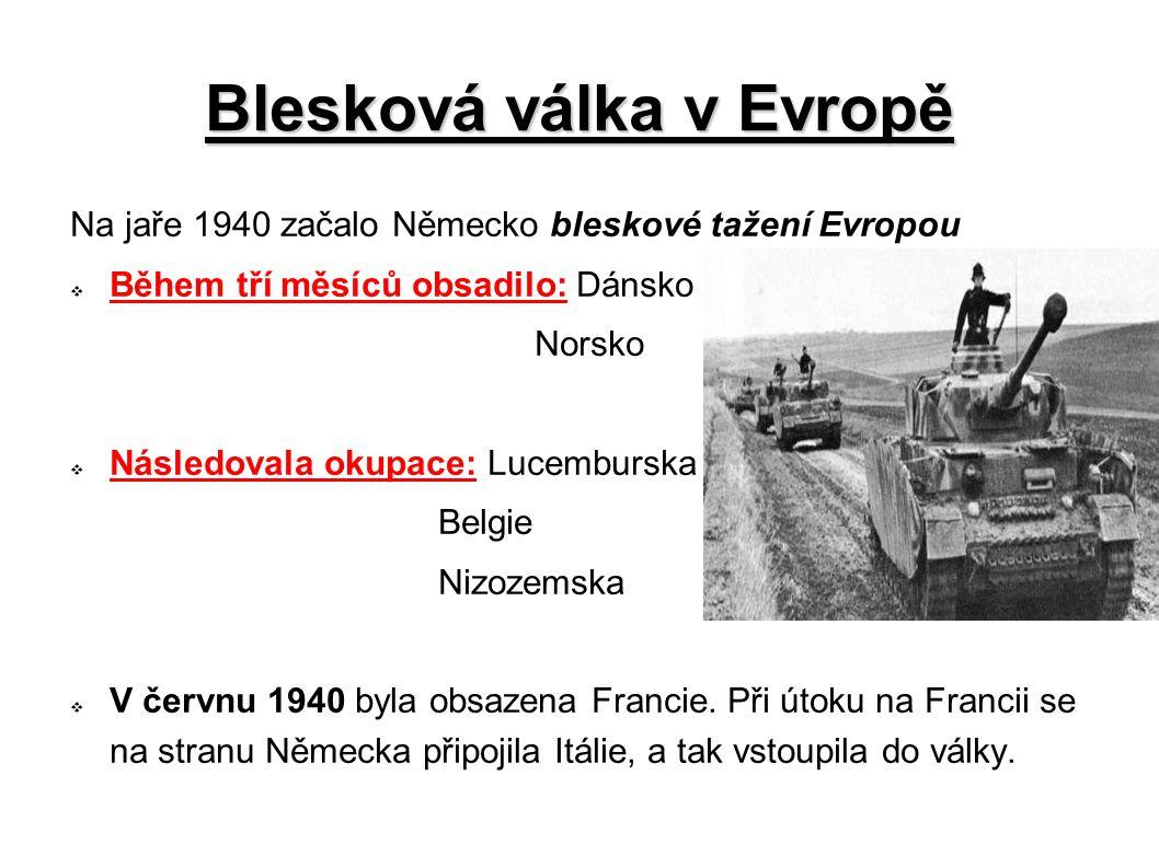 Blesková válka v Evropě