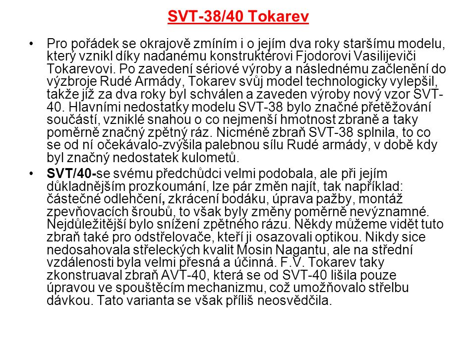 SVT-38/40 Tokarev