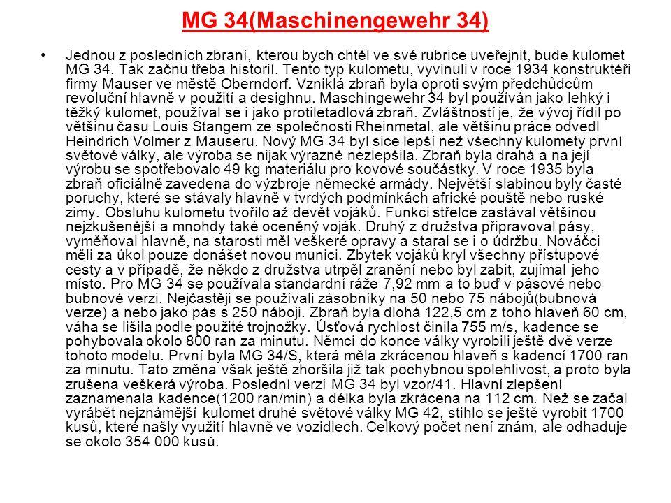 MG 34(Maschinengewehr 34)