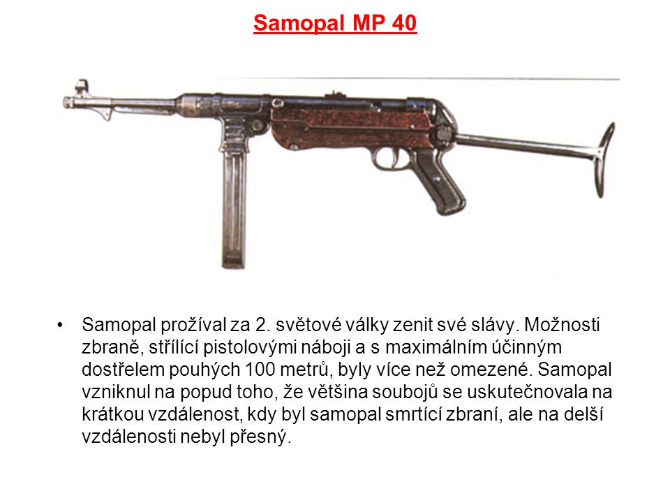 Samopal MP 40