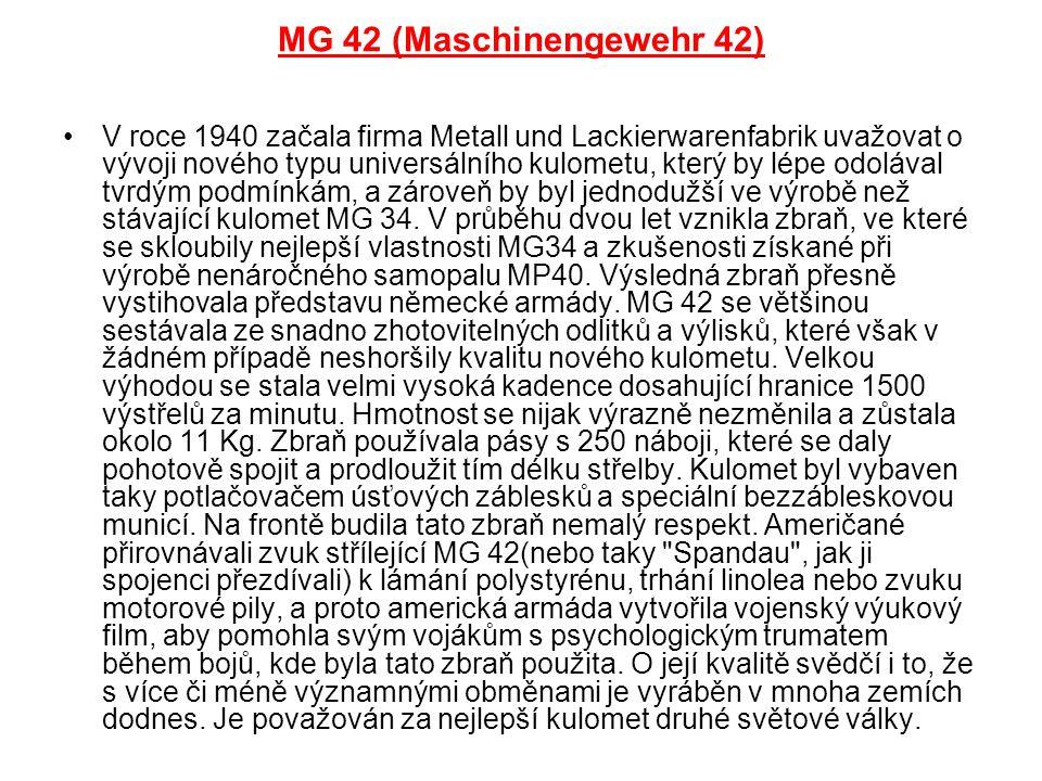 MG 42 (Maschinengewehr 42)