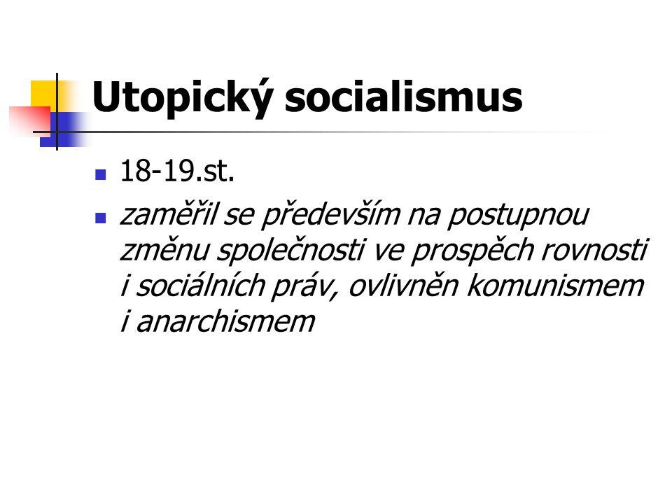 Utopický socialismus 18-19.st.