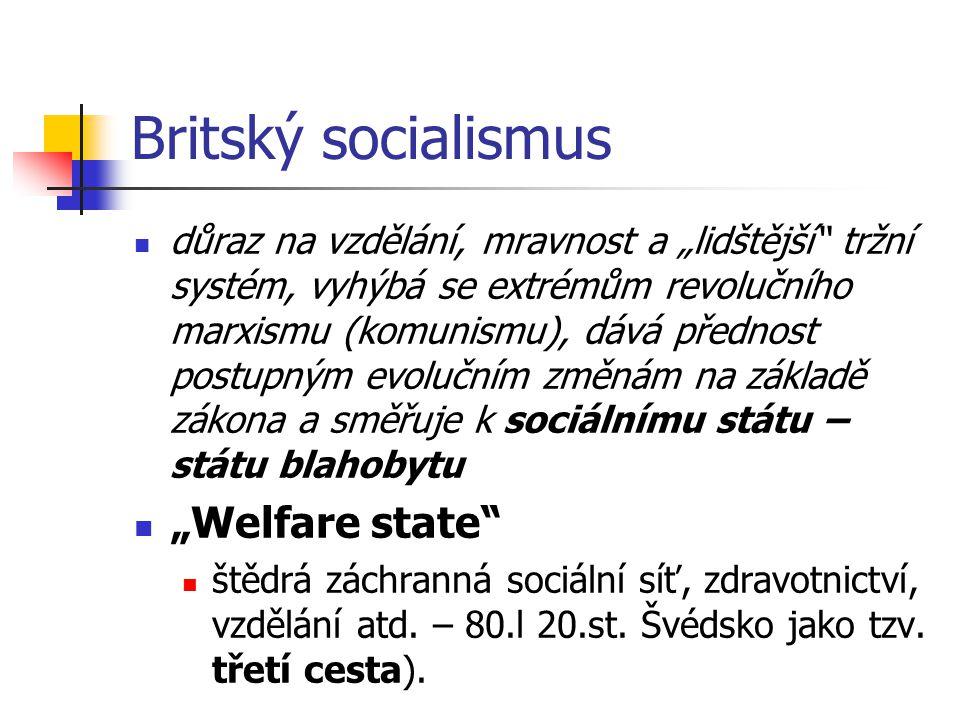 "Britský socialismus ""Welfare state"