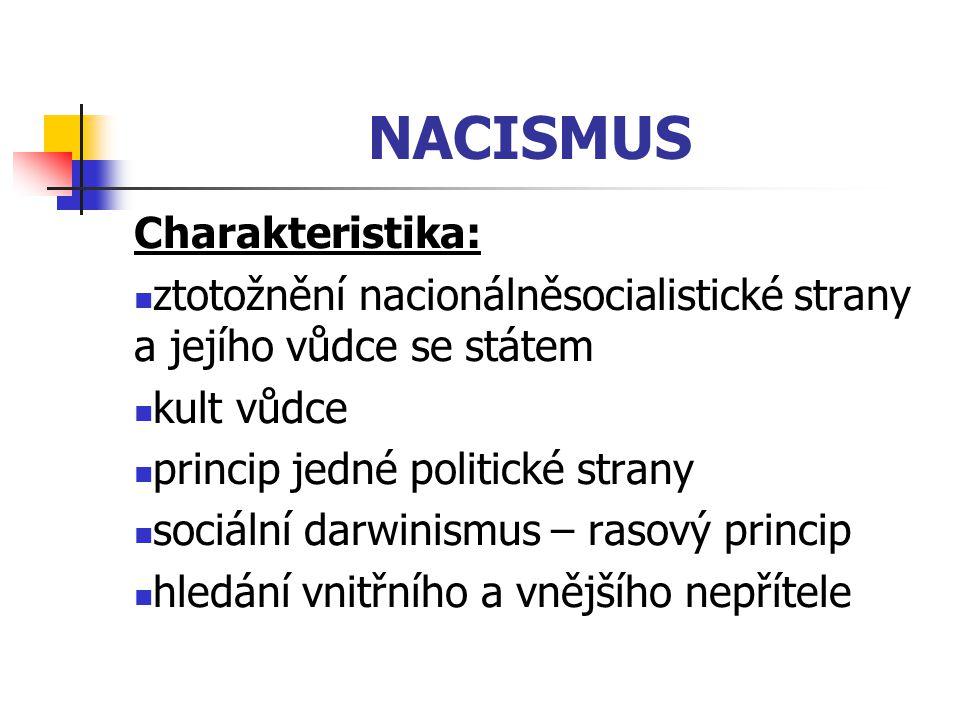 NACISMUS Charakteristika: