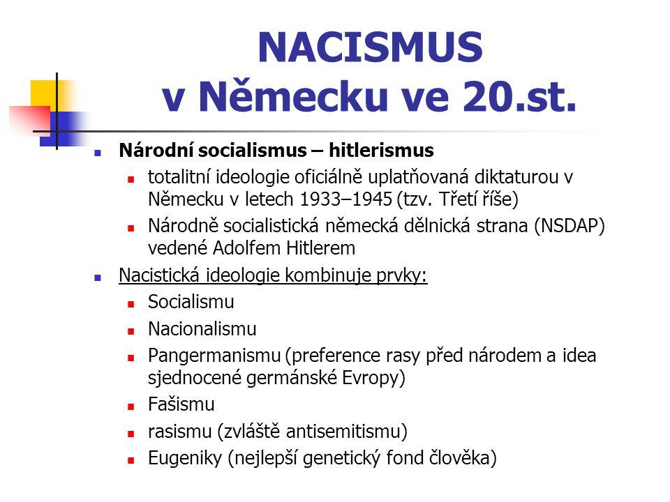 NACISMUS v Německu ve 20.st.
