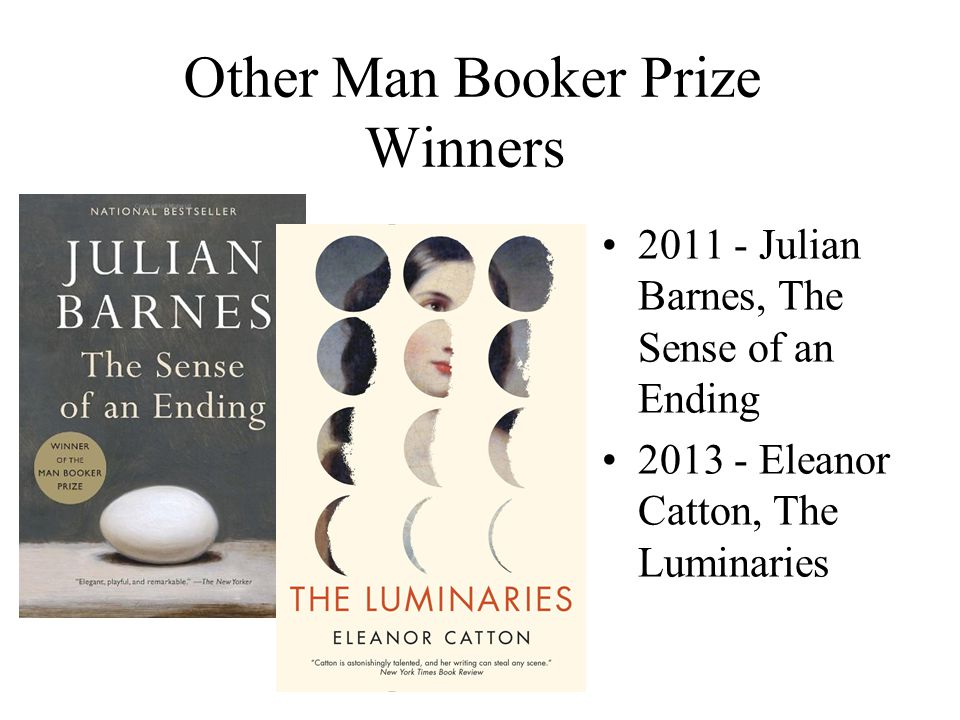 Other Man Booker Prize Winners
