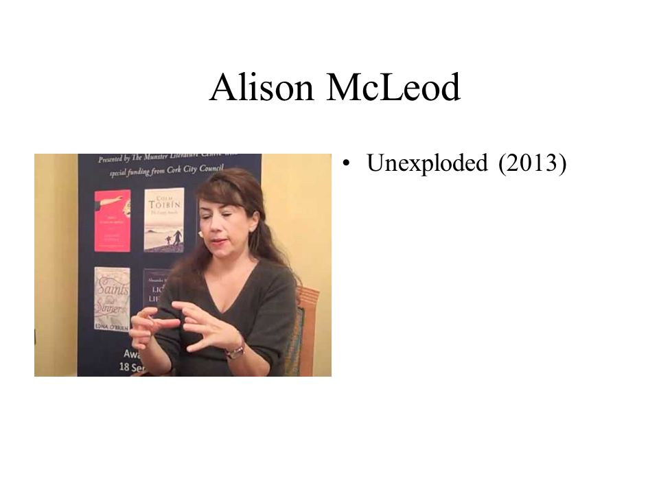 Alison McLeod Unexploded (2013)