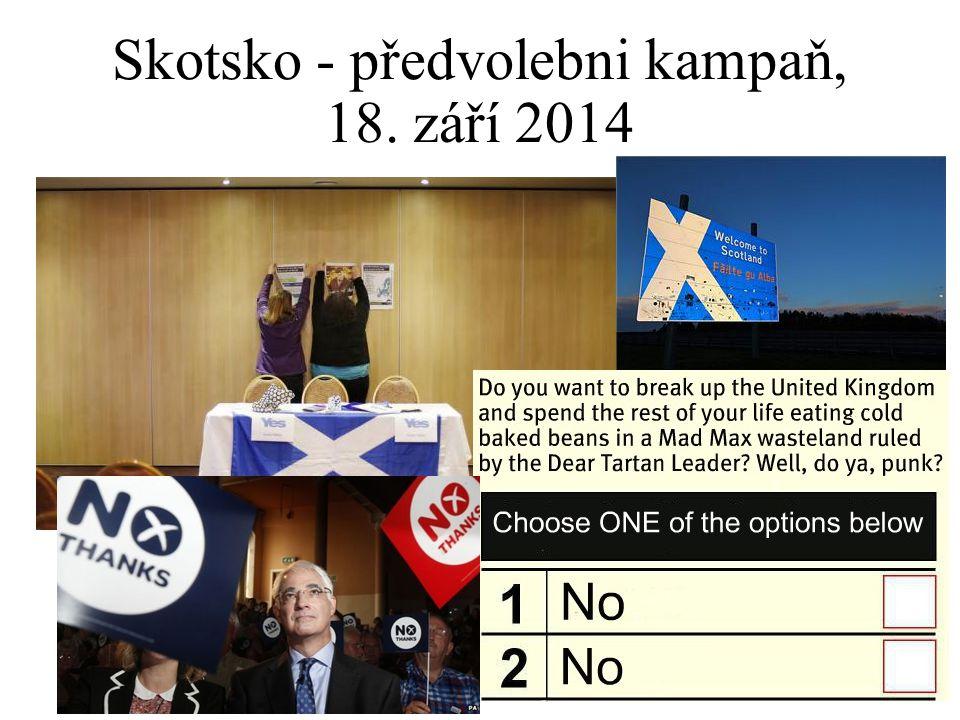 Skotsko - předvolebni kampaň, 18. září 2014