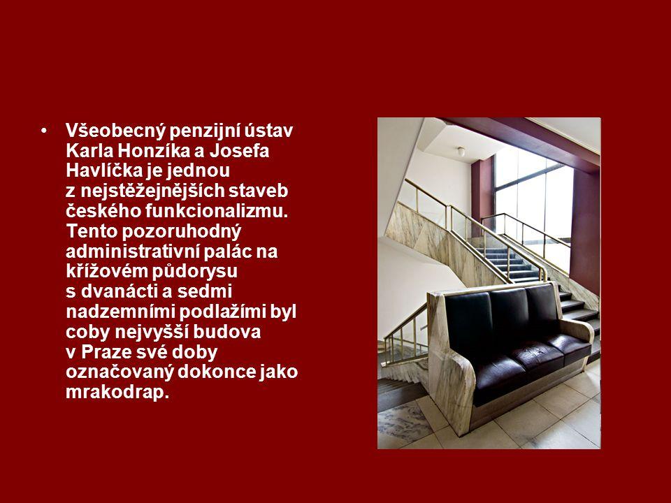 Všeobecný penzijní ústav Karla Honzíka a Josefa Havlíčka je jednou z nejstěžejnějších staveb českého funkcionalizmu.