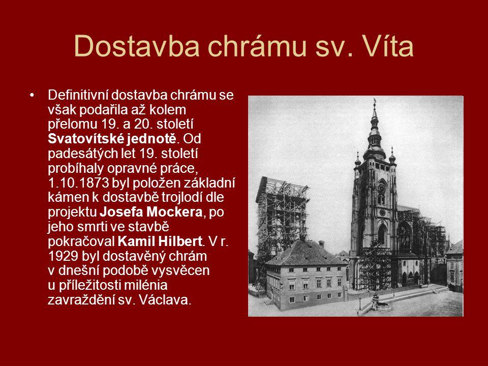 Dostavba chrámu sv. Víta