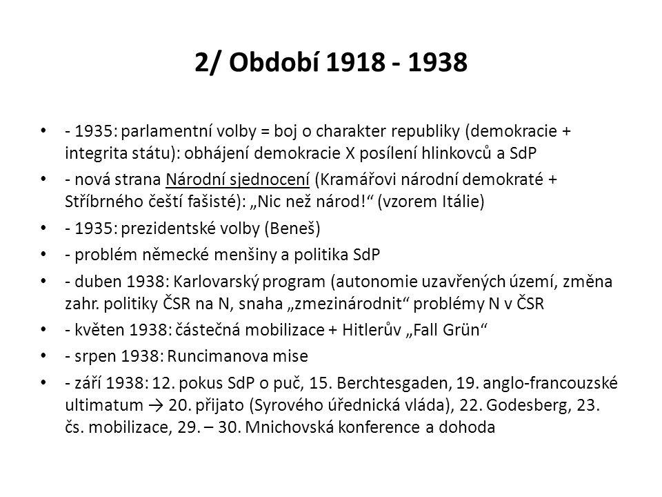 2/ Období 1918 - 1938