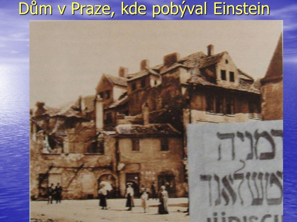 Dům v Praze, kde pobýval Einstein