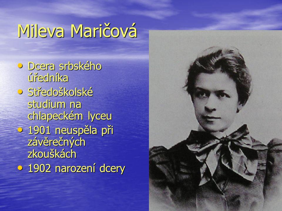 Mileva Maričová Dcera srbského úředníka