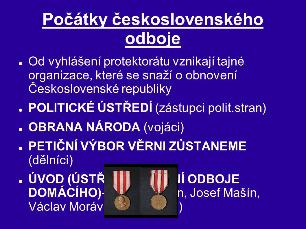 Počátky československého odboje