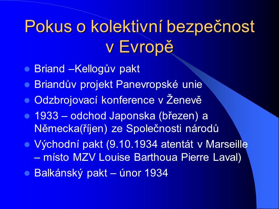 Pokus o kolektivní bezpečnost v Evropě