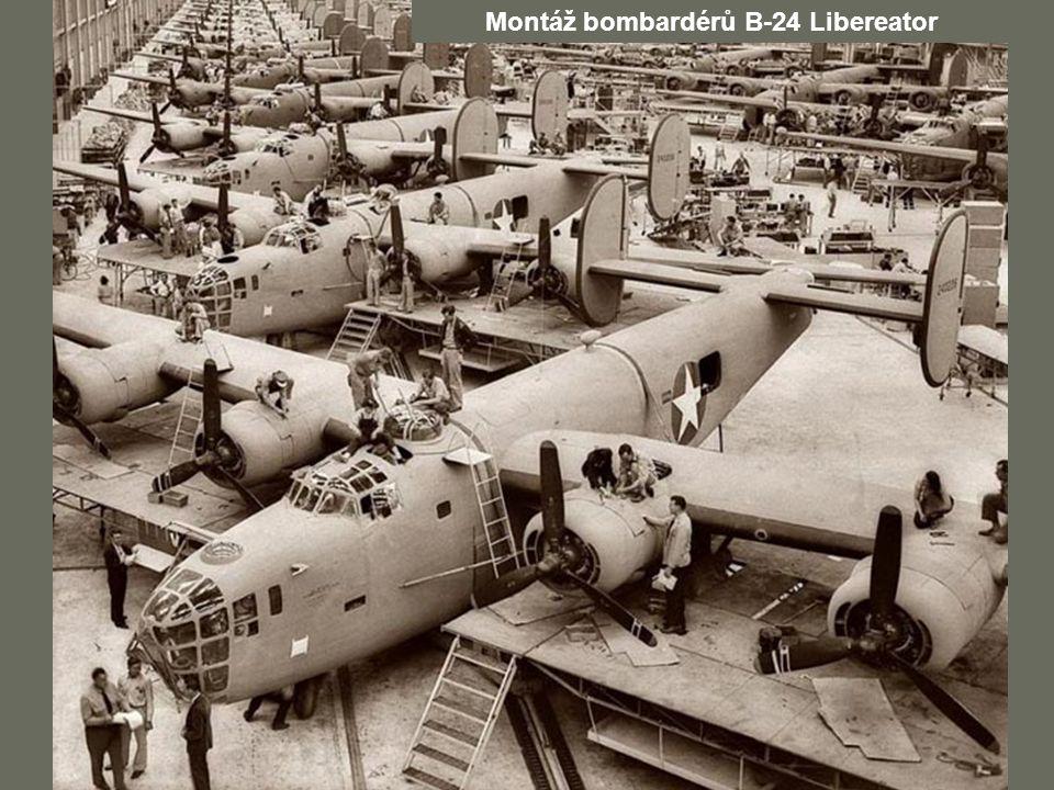Montáž bombardérů B-24 Libereator