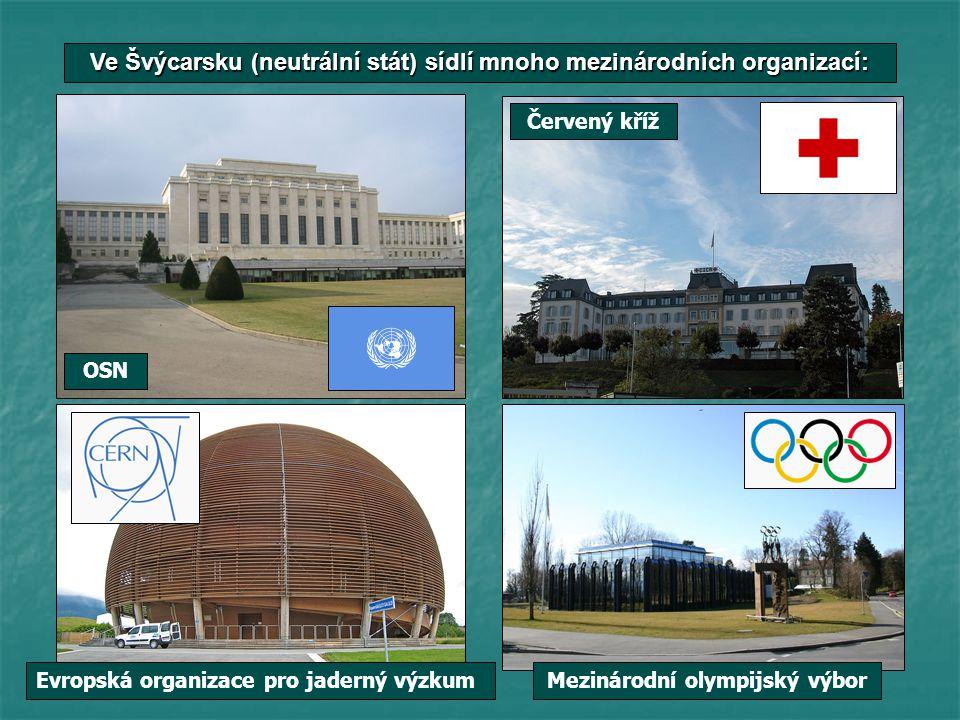 Ve Švýcarsku (neutrální stát) sídlí mnoho mezinárodních organizací: