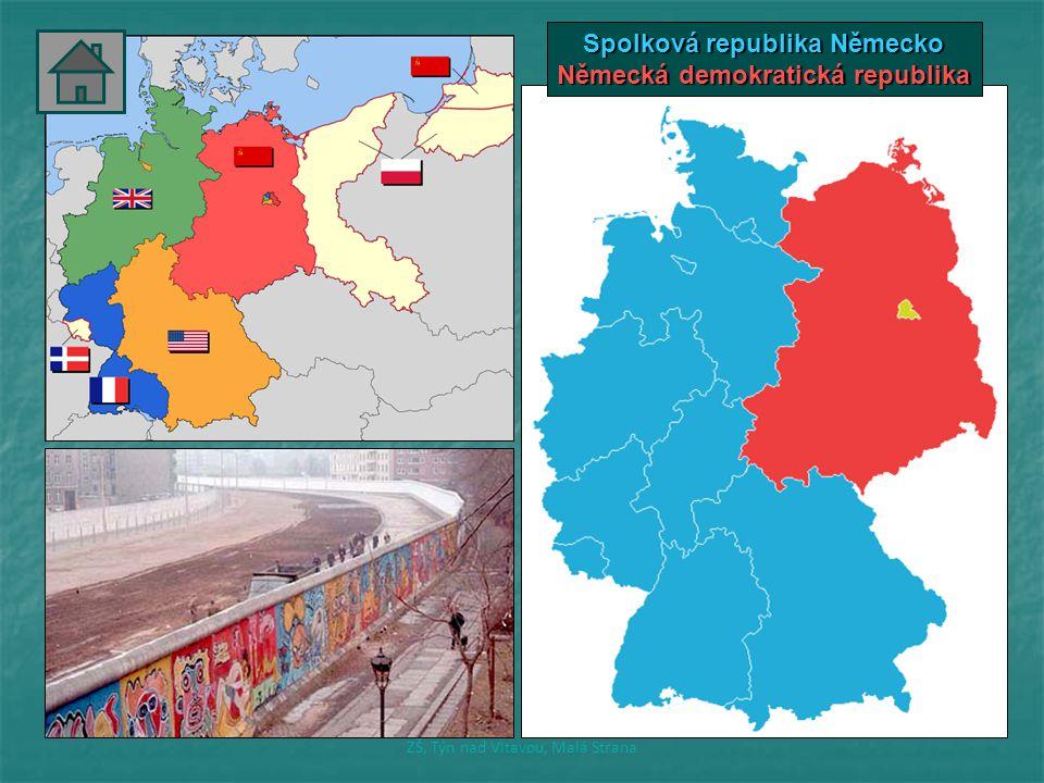 Spolková republika Německo Německá demokratická republika