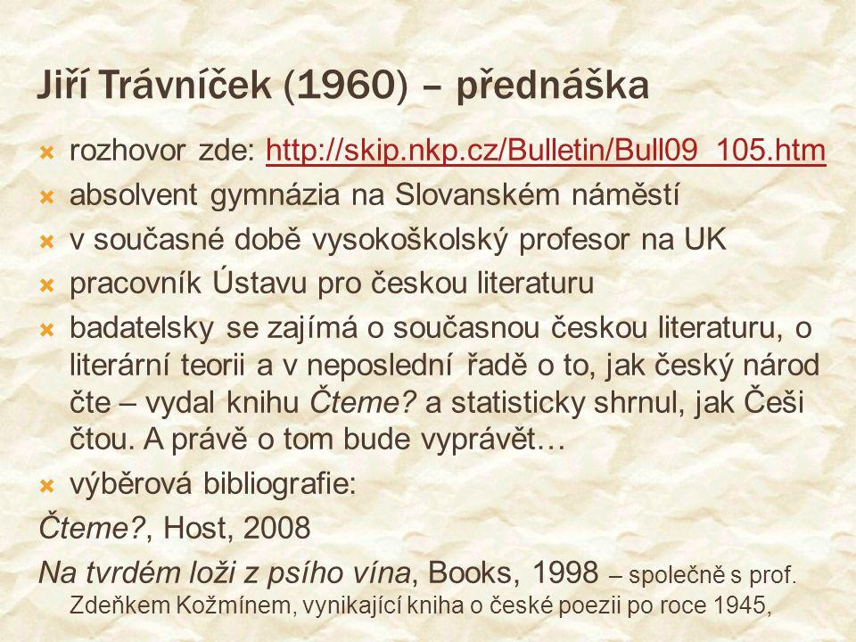 Jiří Trávníček (1960) – přednáška