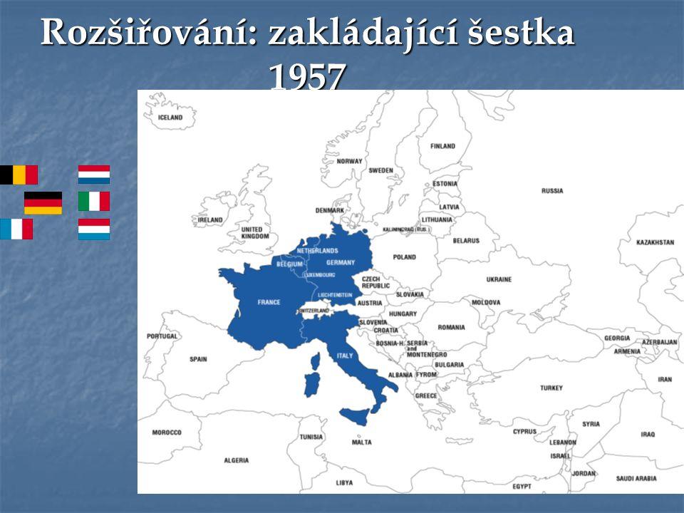 Rozšiřování: zakládající šestka 1957