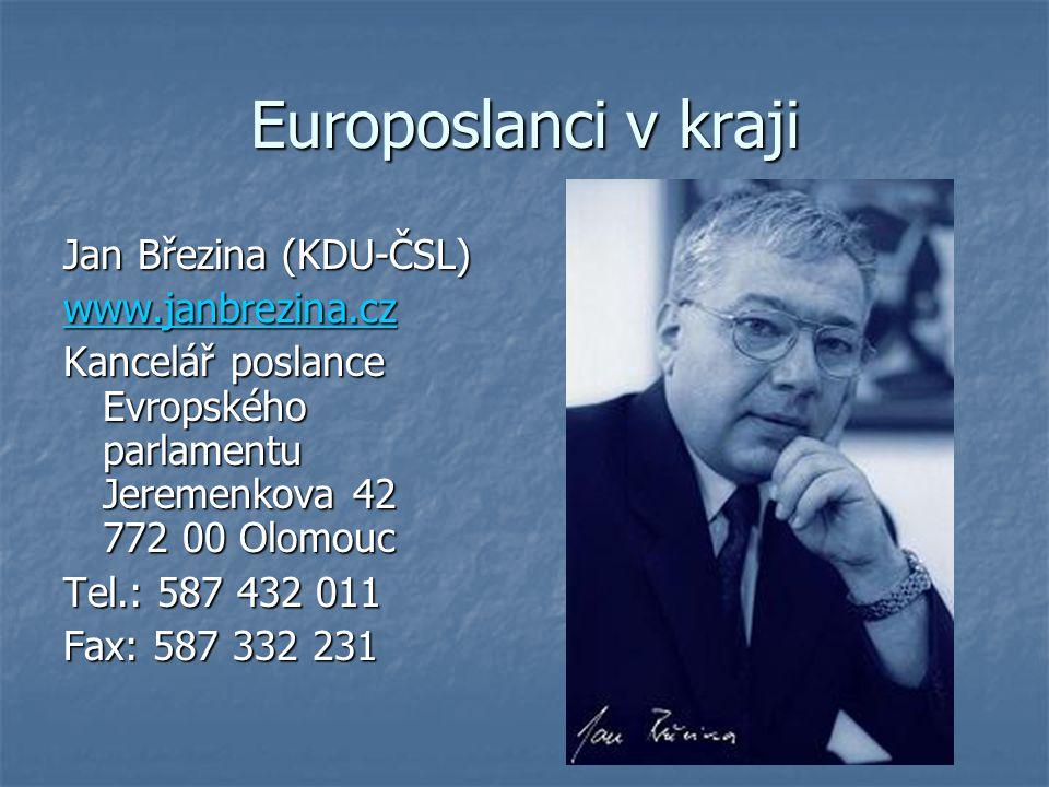 Europoslanci v kraji Jan Březina (KDU-ČSL) www.janbrezina.cz