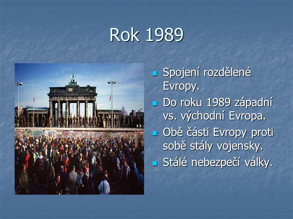 Rok 1989 Spojení rozdělené Evropy.