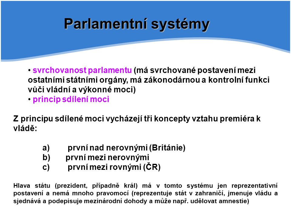 Parlamentní systémy