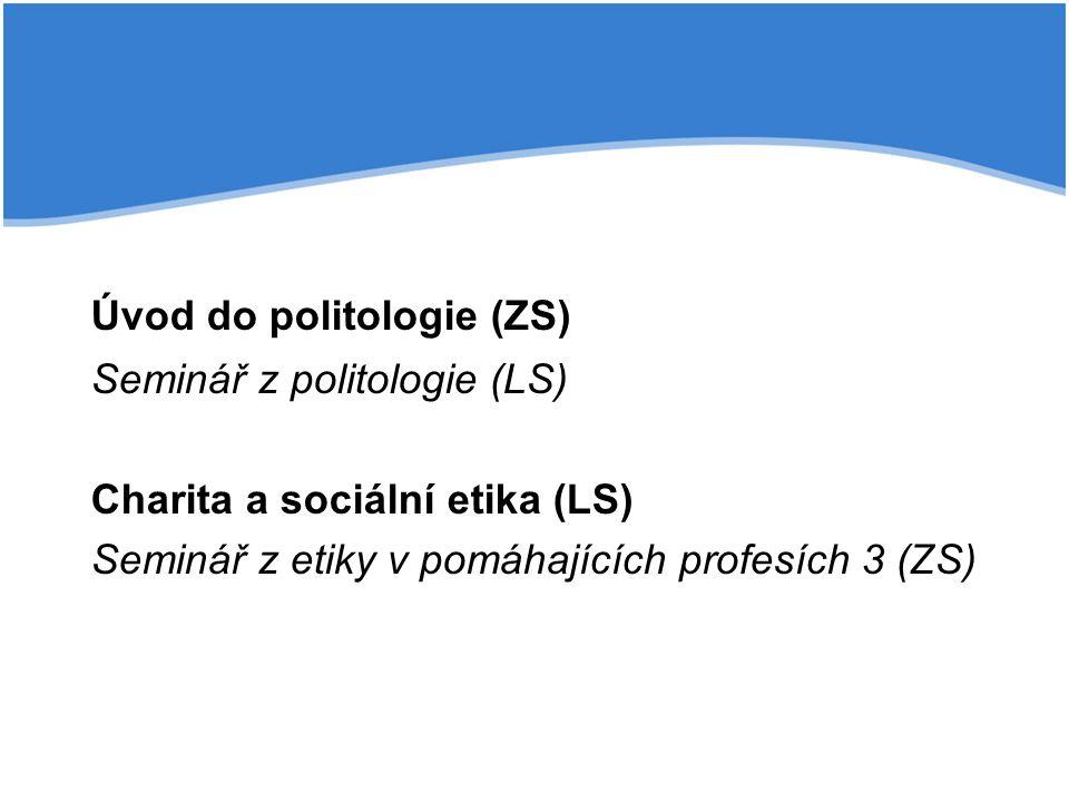 Úvod do politologie (ZS)