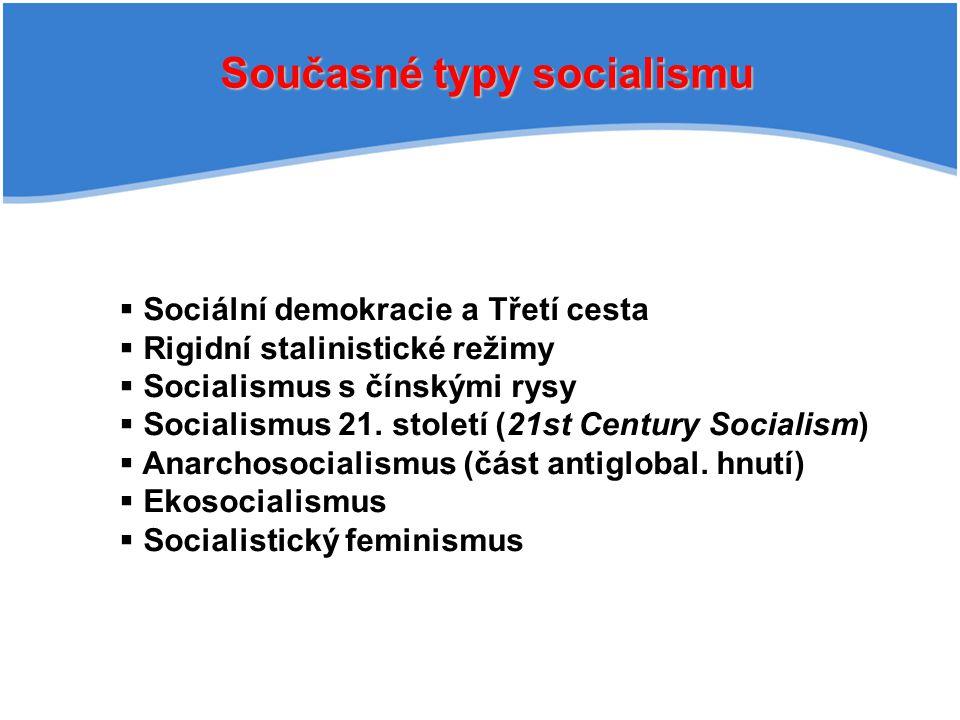 Současné typy socialismu