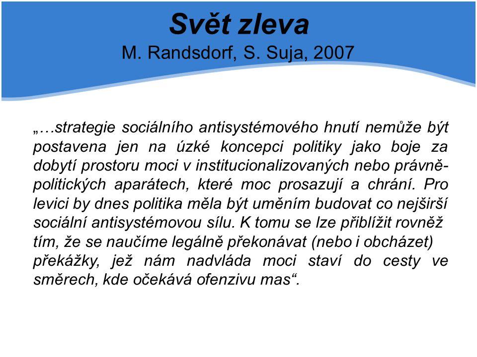 Svět zleva M. Randsdorf, S. Suja, 2007