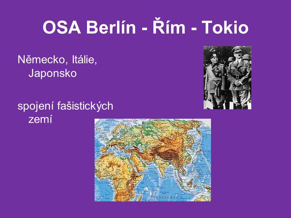 OSA Berlín - Řím - Tokio Německo, Itálie, Japonsko