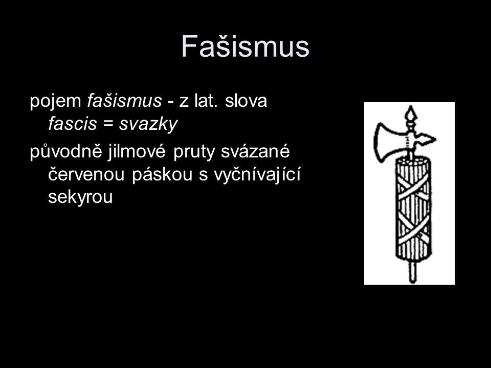 Fašismus pojem fašismus - z lat. slova fascis = svazky