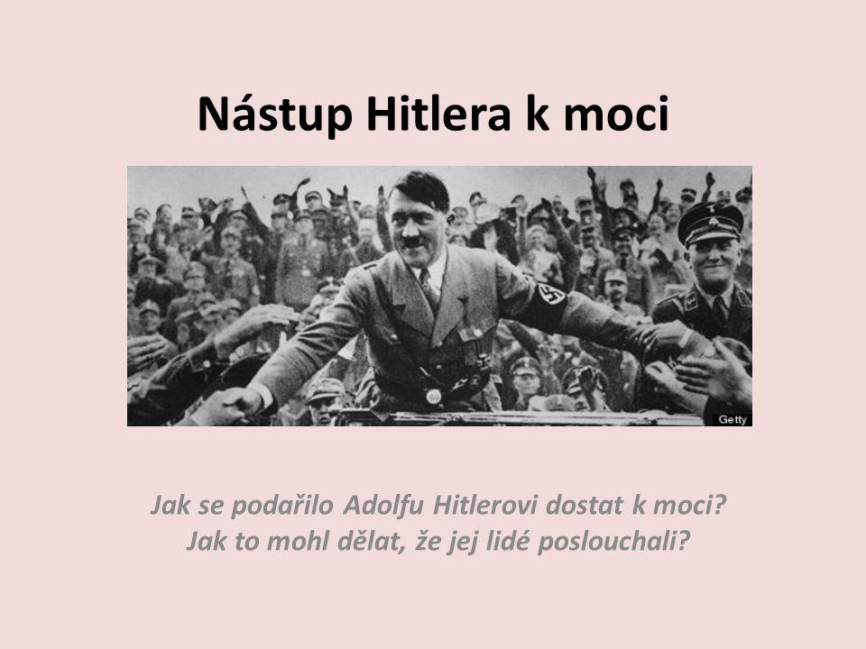 Jak se podařilo Adolfu Hitlerovi dostat k moci